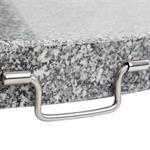 thumb_pic_c: Sonnen-Schirmständer 30 kg, Granit, eckig mit Griffen/Rollen, Garten und Balkon 61019