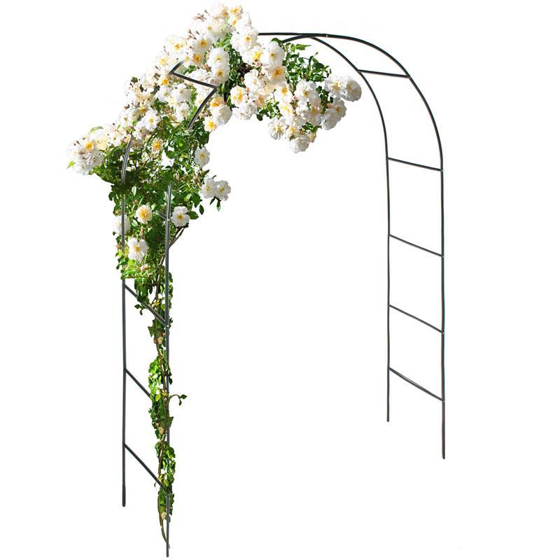 Pic_B:Rosenbogen 2er-Set, Rankgitter / Rankhilfe für Pflanzen, Pergola, Spalier aus Eisen