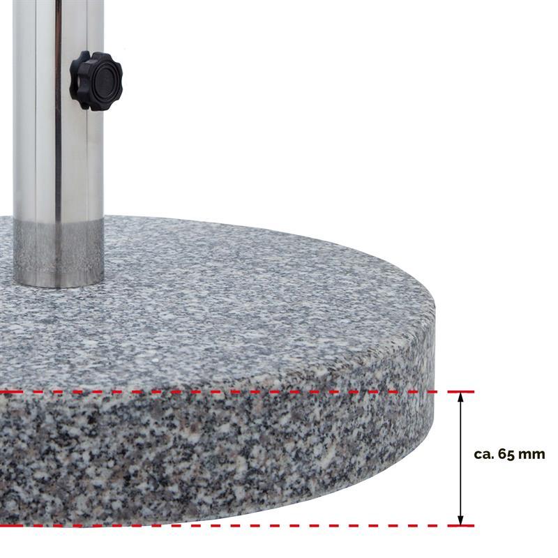 Pic_D:Schirmständer mit runder Granitplatte massiv 61021
