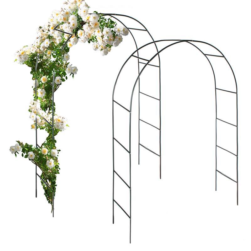 Pic_A:Rosenbogen 2er-Set, Rankgitter / Rankhilfe für Pflanzen, Pergola, Spalier aus Eisen
