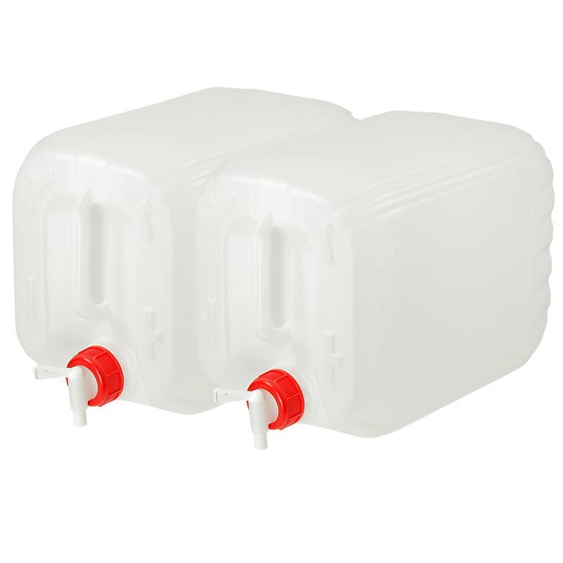 Pic_A:2 x Wasserkanister 10 L mit Ablasshahn für Camping