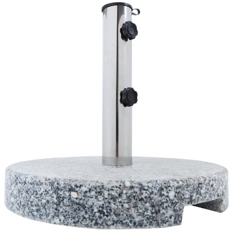 Pic_A:Schirmständer mit edler Granitplatte rund
