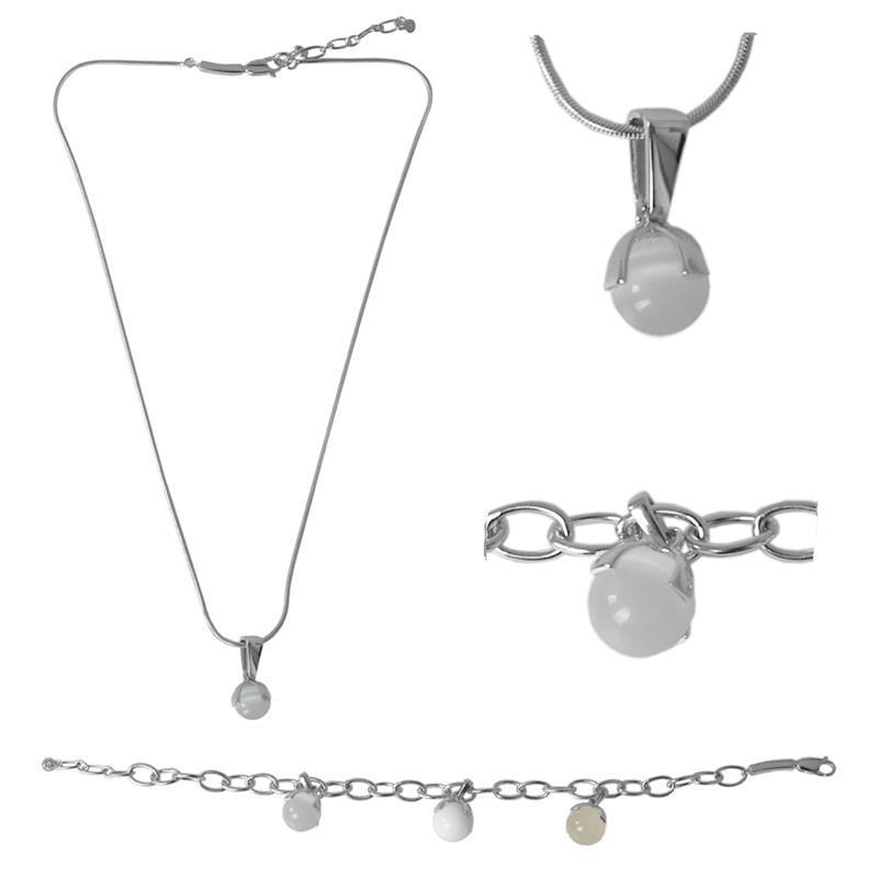 Pic_A:Silberhalskette und Silberarmband von MEXX