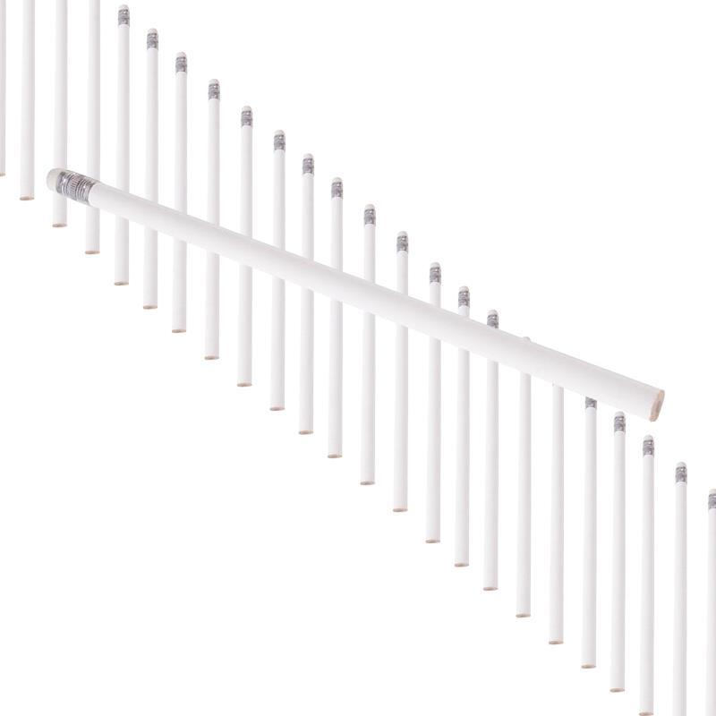 Pic_A:60er Set Bleistift HB mit Radiertip weiß