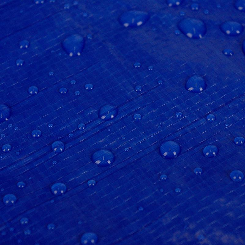 Pic_D:Trampolin Regenabdeckung blau