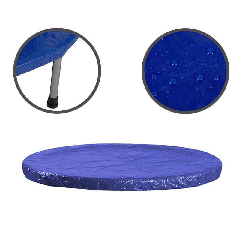Pic_A:Trampolin Regenabdeckung blau