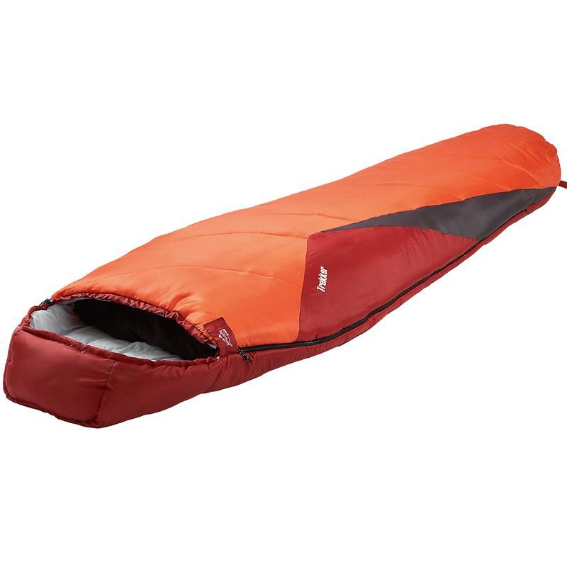 Pic_A:Schlafsack Mumienschlafsack Trekker für Outdoor und Camping 230 x 80 cm orange / rot 4650