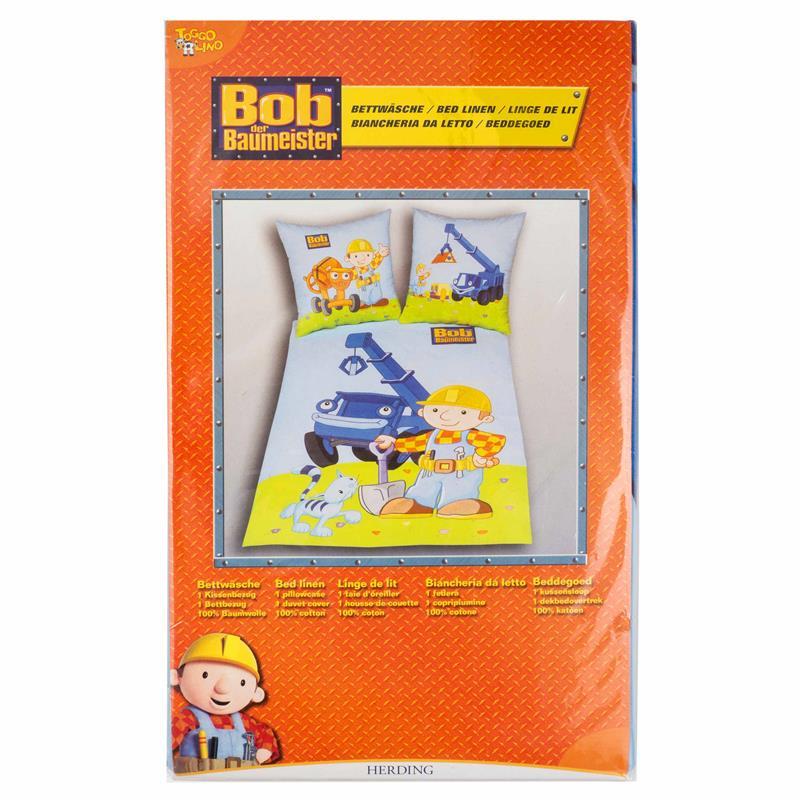 Bettwäsche Bob Der Baumeister 65x100 160x210 Cm
