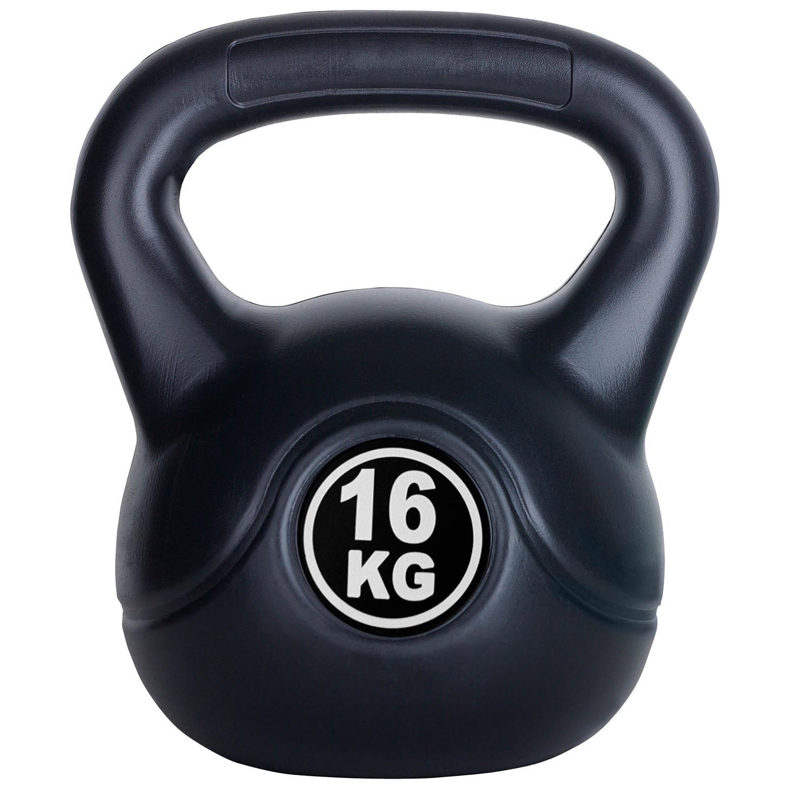 Kettlebell Kugelhantel Rundgewicht Kugelgewicht Kraftsport Schwunghantel 8-16kg