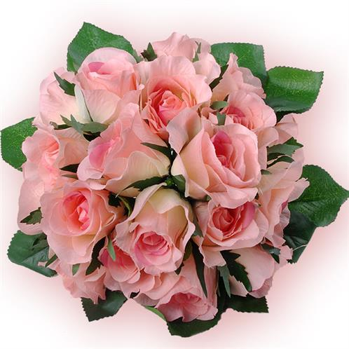 rosen kunstblume strau gesteck blumenstrau stoffblumen deko rosa k nstlich ebay. Black Bedroom Furniture Sets. Home Design Ideas
