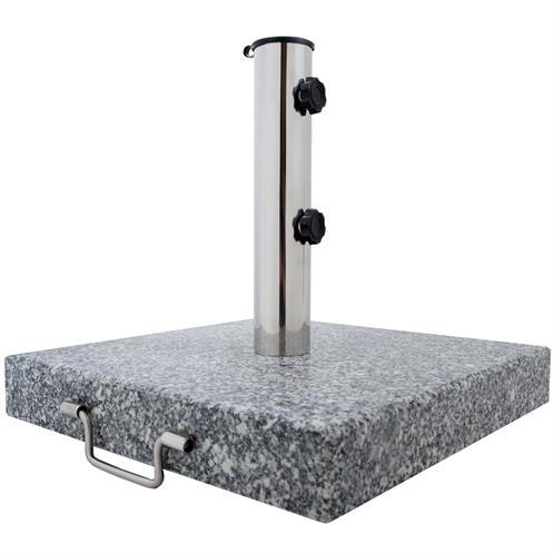 sonnenschirmst nder granit 30 kg mit rollen granitschirmst nder eckig 45 cm ebay. Black Bedroom Furniture Sets. Home Design Ideas