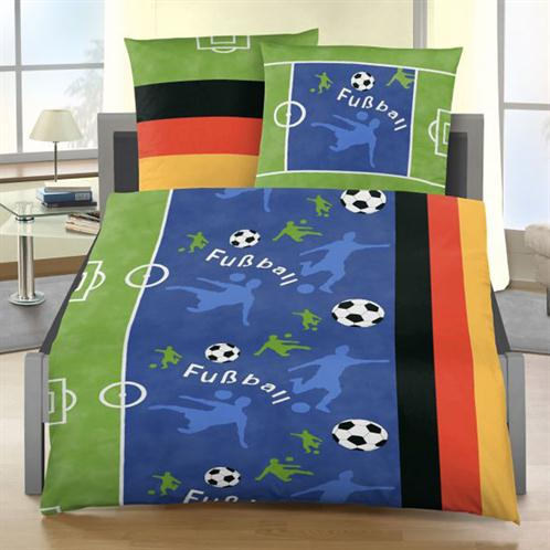 bettw sche fu ball 135x200 cm bettgarnitur bettbezug renforce baumwolle set neu ebay. Black Bedroom Furniture Sets. Home Design Ideas