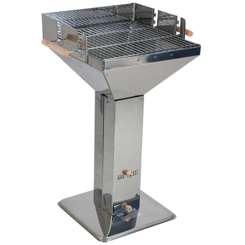 edelstahl s ulengrill holzkohle grill trichtergrill ebay. Black Bedroom Furniture Sets. Home Design Ideas