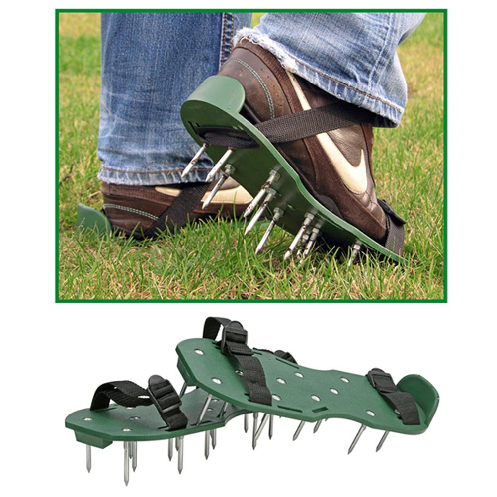 rasenbel fter sandalen rasenl fter schuhe vertikutierer. Black Bedroom Furniture Sets. Home Design Ideas