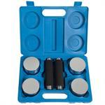5 kg Kurzhantelset Chrom mit blauem Koffer