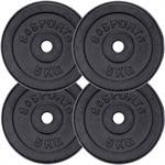 27,5 kg Hantelscheibenset Gusseisen 30 mm 2x1,25 2x2,5 4x5 kg