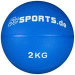 Medizinball blau 2 kg