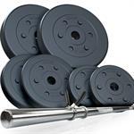 20 kg Langhantelset Kunststoff 2x1,25 2x2,5 2x5 kg