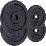 15 kg Hantelscheibenset Gusseisen 30 mm 2x2,5 2x5 kg