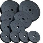 35 kg Hantelscheibenset Kunststoff 2x7,5 kg 2x5 kg 2x2,5 kg 4x1,25 kg Ø 30 mm