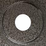 4 x 5 kg Hantelscheiben mit Griffen Gusseisen Hammerschlag 30 mm Grau