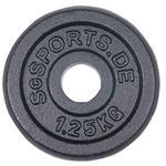 1,25 kg Hantelscheibe Gusseisen 50 mm