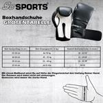 Boxhandschuhe Kunststoff schwarz/weiß 10 - 16 oz