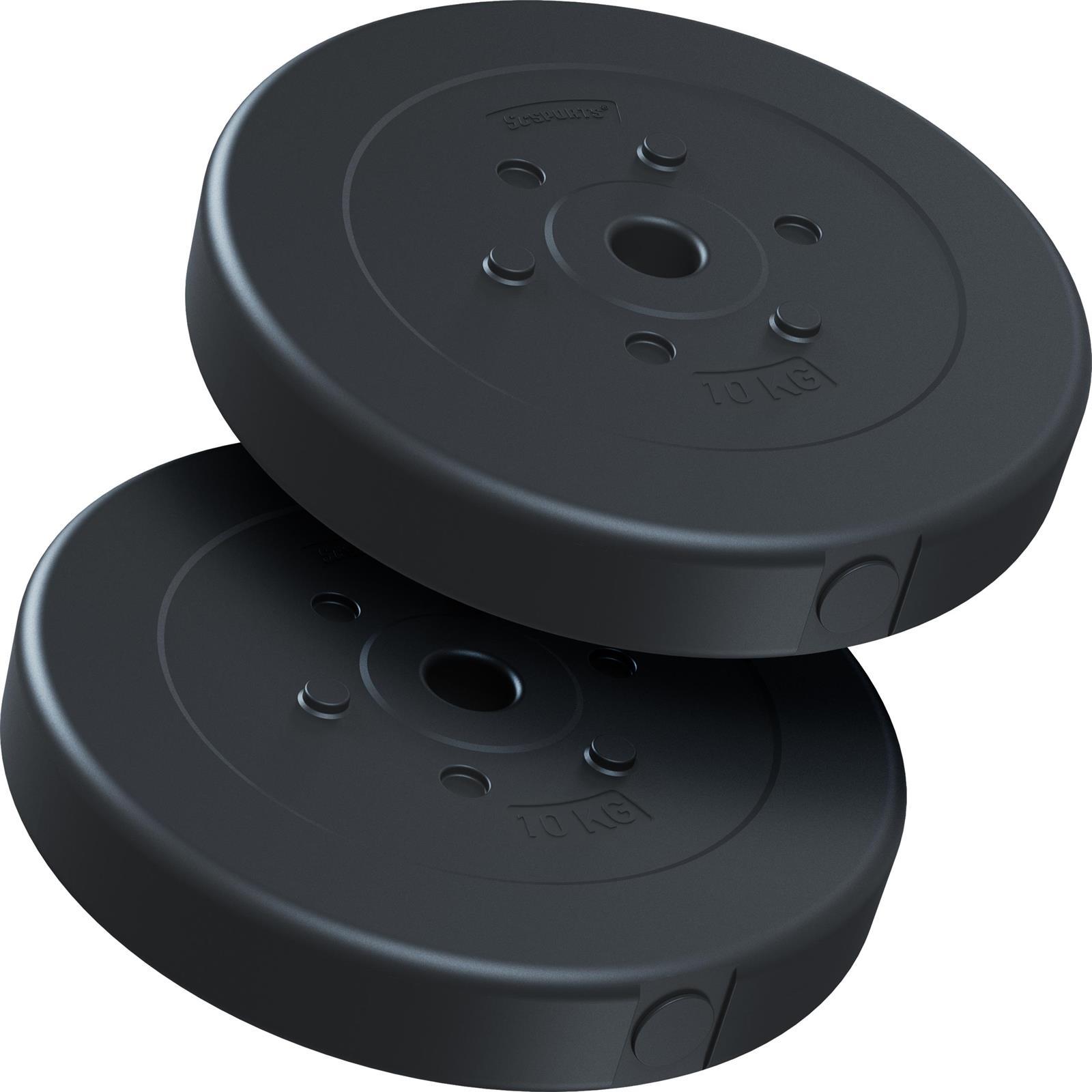 miniatuur 41 - Hantelscheiben 1,25 kg - 10 kg Kunststoff Scheiben Ø 30mm Zement Gewichte 2.Wahl