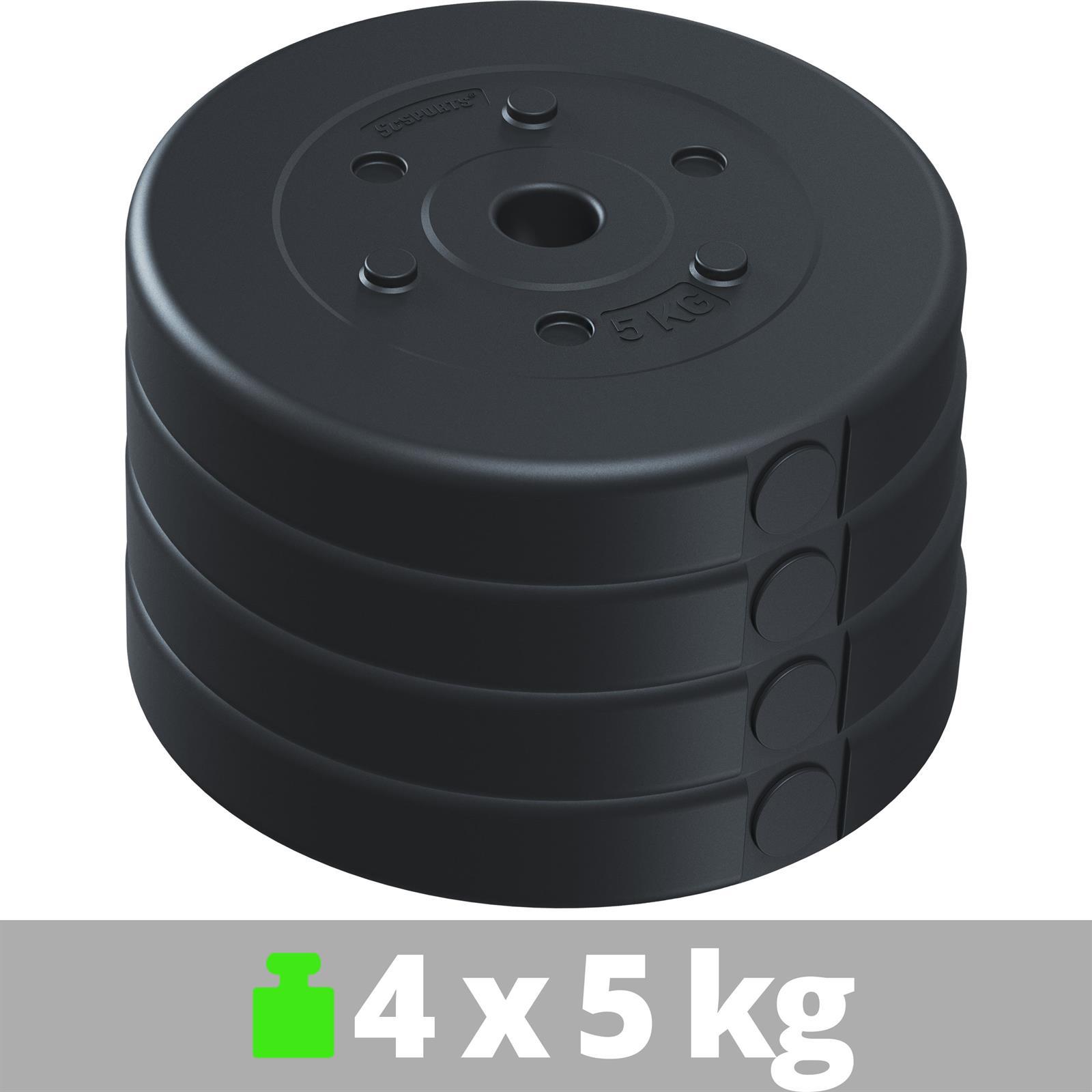 miniatuur 25 - Hantelscheiben 1,25 kg - 10 kg Kunststoff Scheiben Ø 30mm Zement Gewichte 2.Wahl