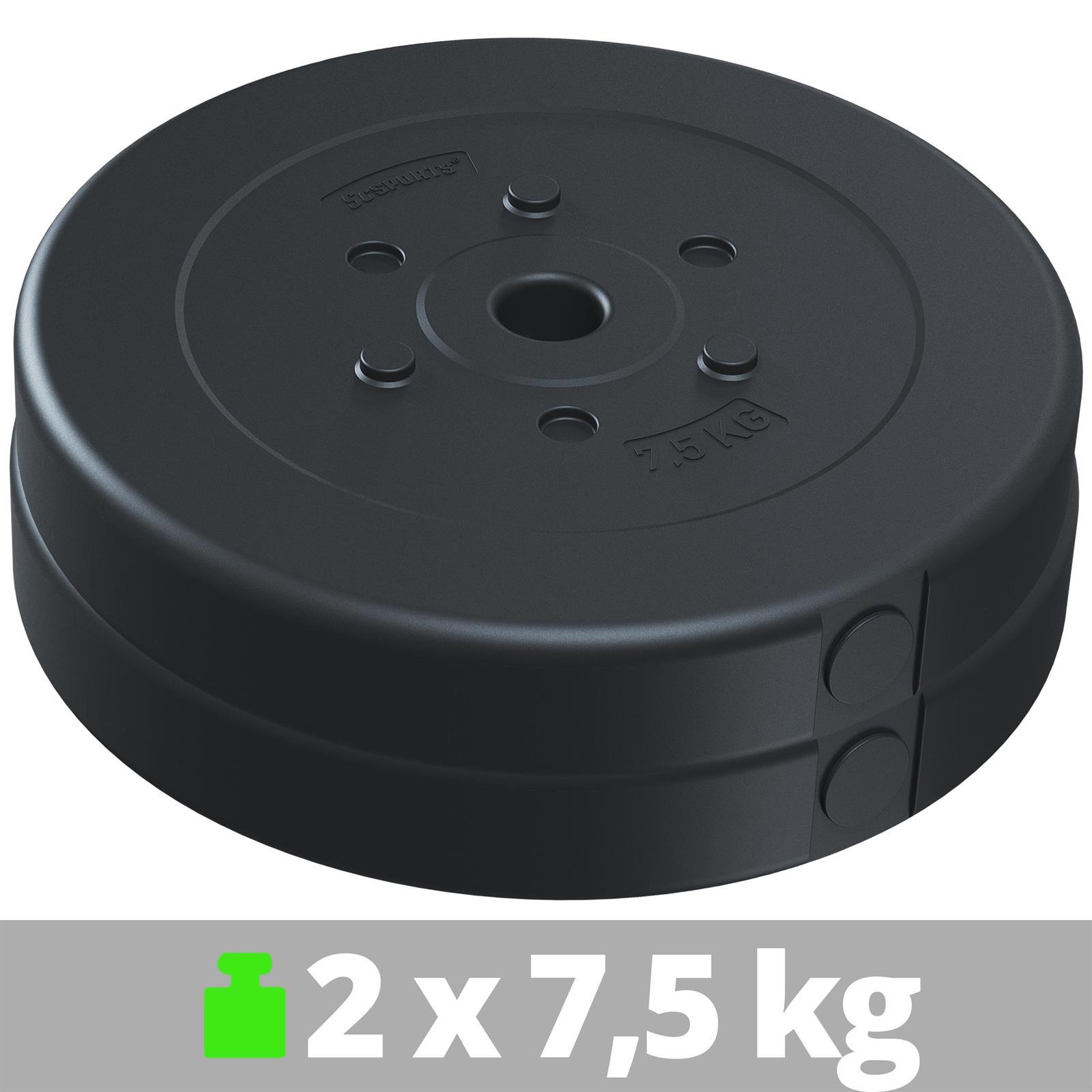 miniatuur 31 - Hantelscheiben 1,25 kg - 10 kg Kunststoff Scheiben Ø 30mm Zement Gewichte 2.Wahl