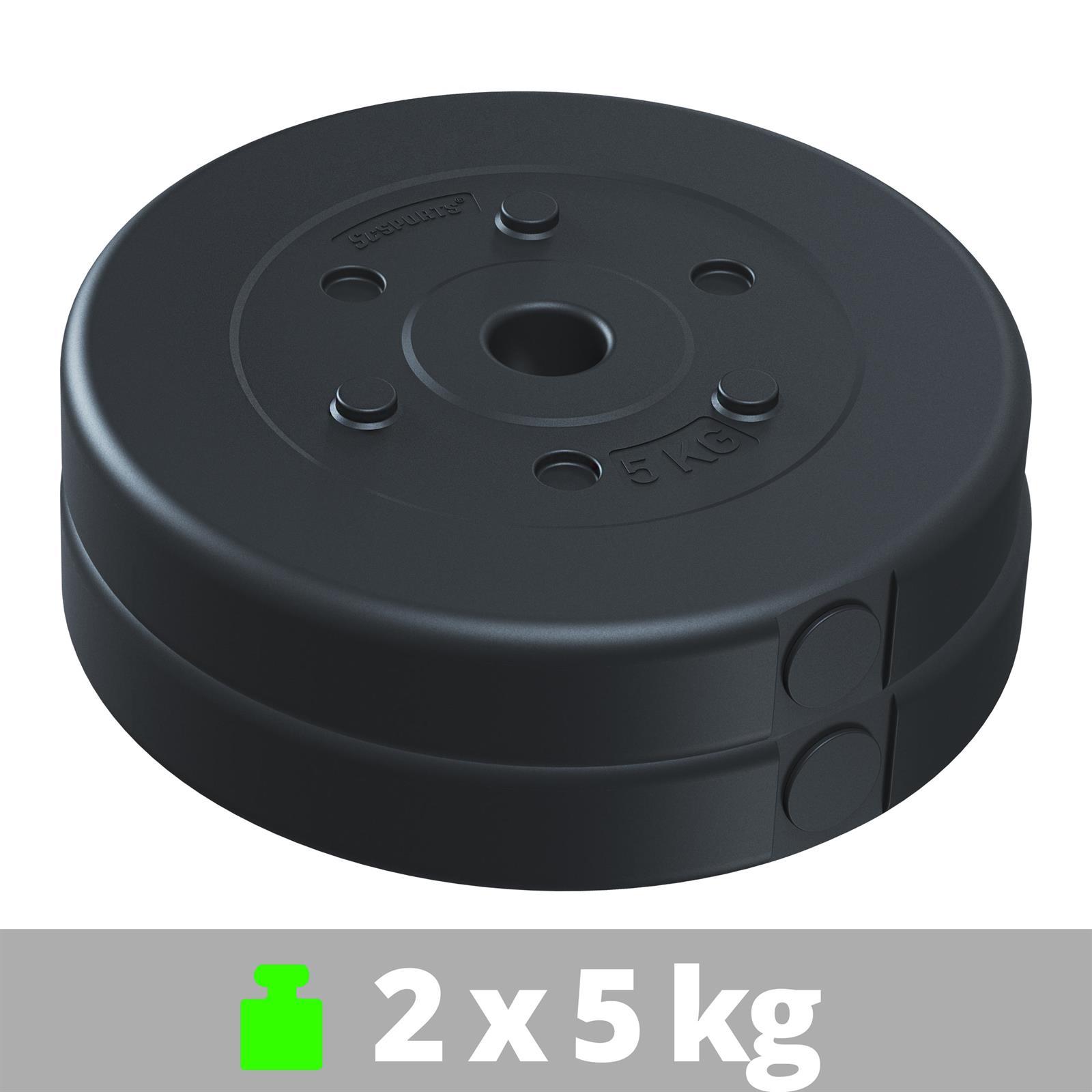 miniatuur 21 - Hantelscheiben 1,25 kg - 10 kg Kunststoff Scheiben Ø 30mm Zement Gewichte 2.Wahl