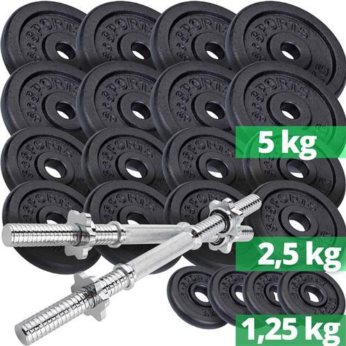 ScSPORTS® 3 kg Hantelscheiben Set Gusseisen 6 x 0,5 kg Hantel Gewichte 30 mm