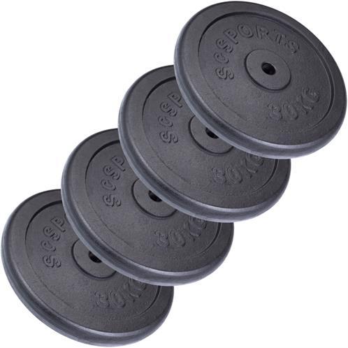 Standard Gusseisen Gewicht Platte 4 X 0,5 kg │ 2.5cm Loch Scheibe Fitnessstudio