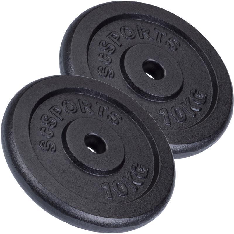 20 kg Hantelscheibenset Gusseisen 30 mm 2x10 kg