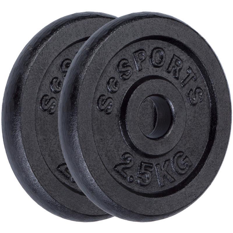 5 kg Halterschijven set gietijzer 30 mm 2x2,5 kg