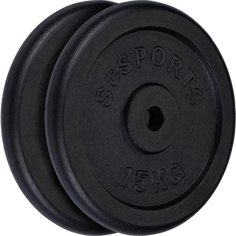 30 kg Halterschijven set gietijzer 30 mm 2x15 kg