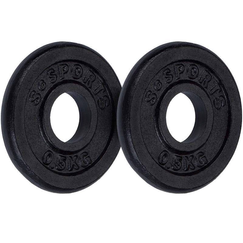 1 kg Hantelscheibenset Gusseisen 30 mm