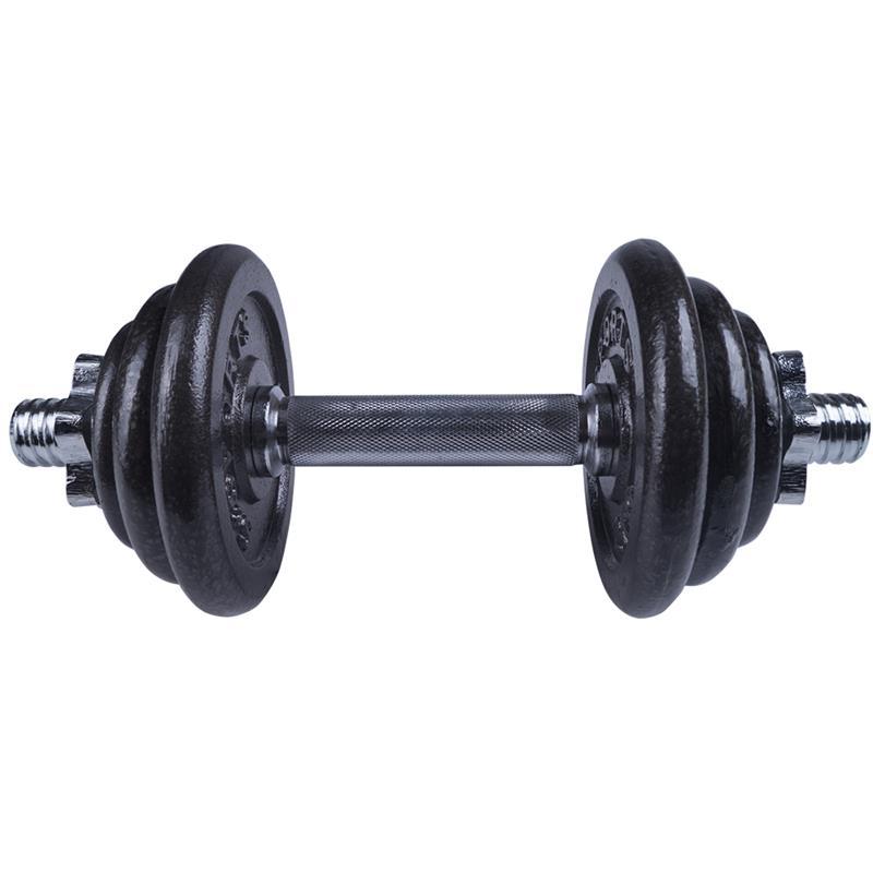 20 kg Kurzhantelset Hammerschlag dunkelgrau