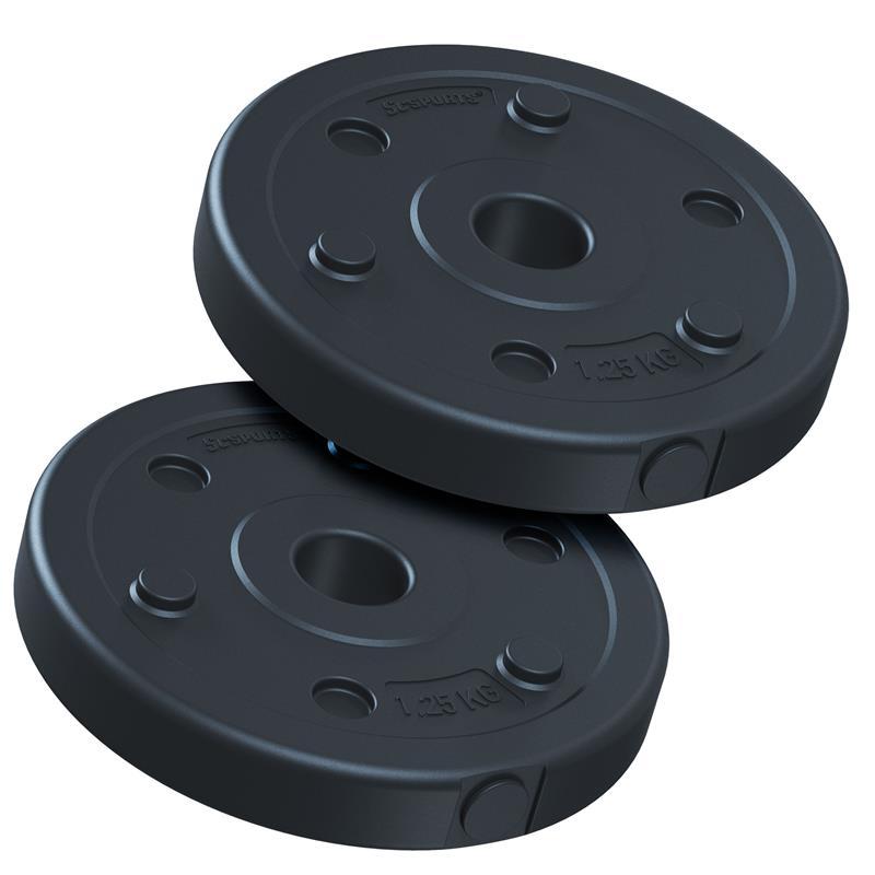 2,5 kg Hantelscheibenset Kunststoff 2x1,25 kg Ø 30 mm