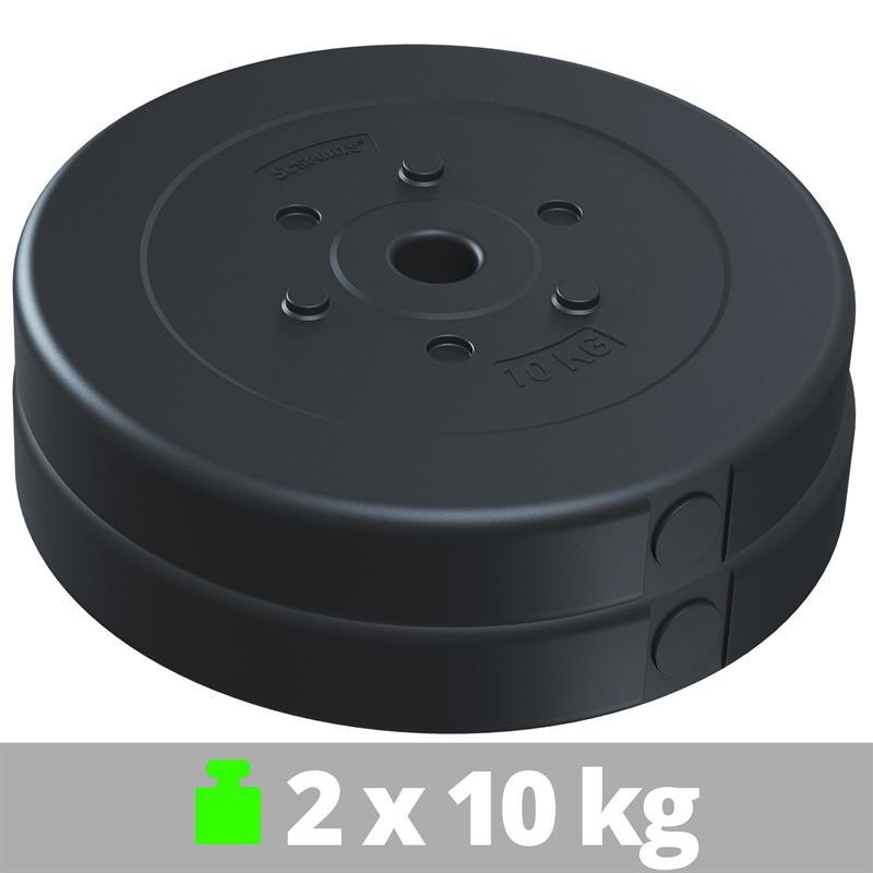 20 kg Hantelscheibenset Kunststoff 2x10 kg Ø 30 mm