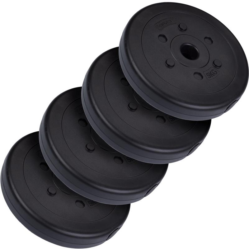 30 kg Langhantelset Kunststoff 2x1,25 2x2,5 4x5 kg