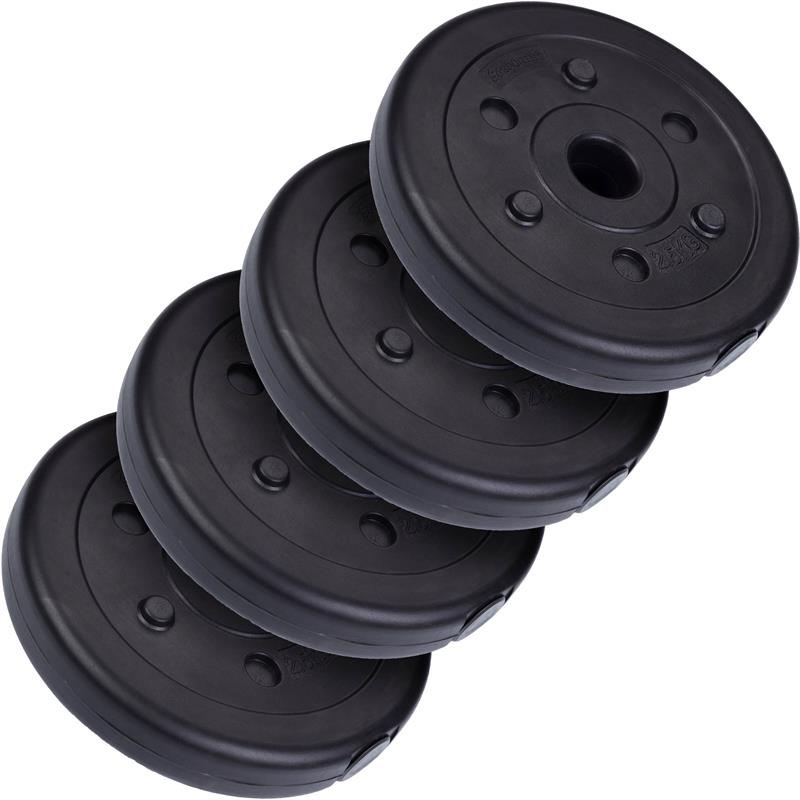 10 kg Hantelscheibenset Kunststoff 4x2,5 kg Ø 30 mm