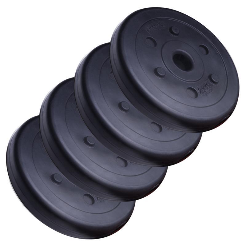 10 kg Hantelscheibenset Kunststoff 30 mm 4x2,5 kg