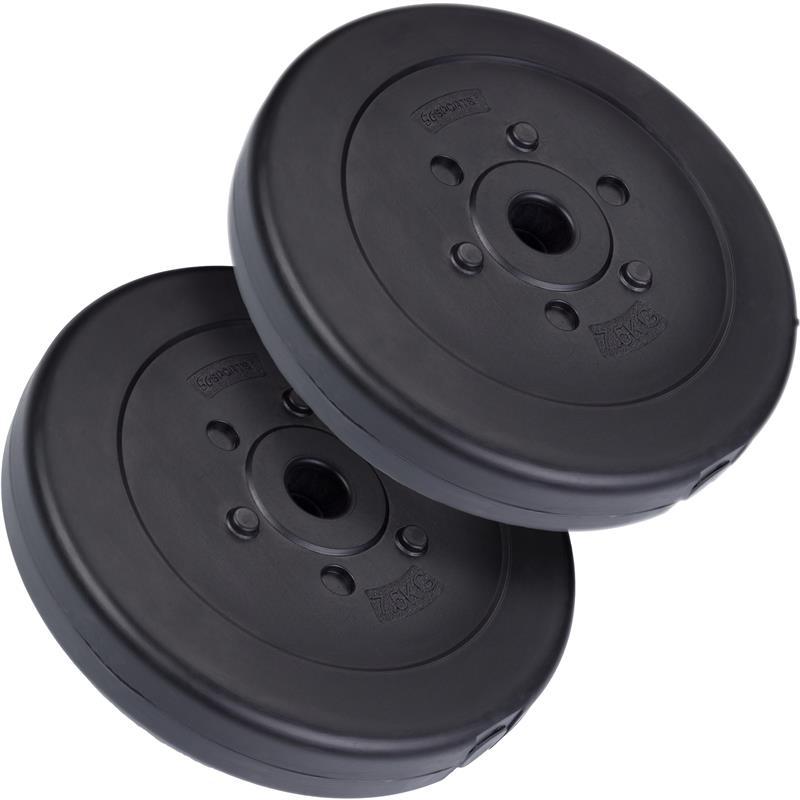 15 kg Hantelscheibenset Kunststoff 2x7,5 kg Ø 30 mm