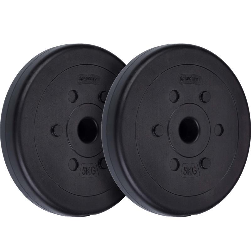 10 kg Hantelscheibenset Kunststoff 2x5 kg Ø 30 mm