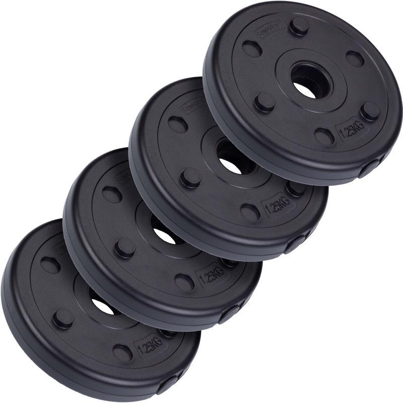 5 kg Hantelscheibenset Kunststoff 4x1,25 kg Ø 30 mm