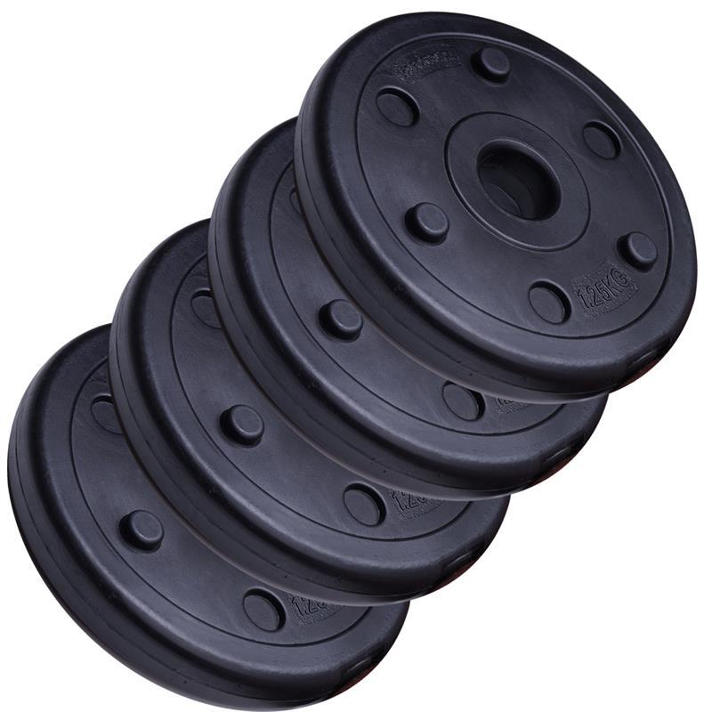 5 kg Hantelscheibenset Kunststoff 30 mm 4x1,25 kg