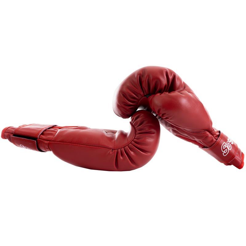 Boxhandschuhe Leder rot
