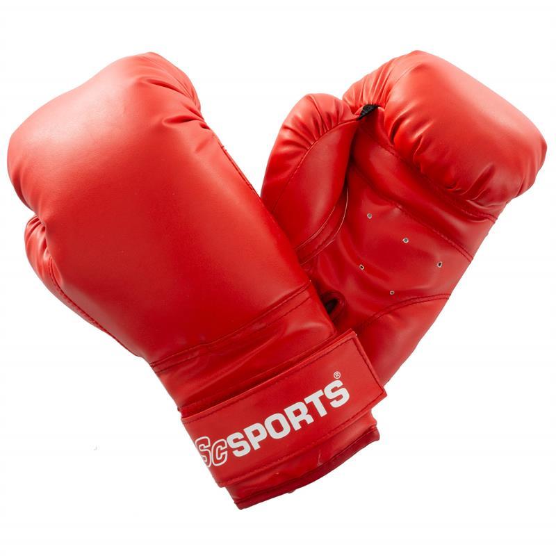 Boxhandschuhe Kunststoff rot 10 oz