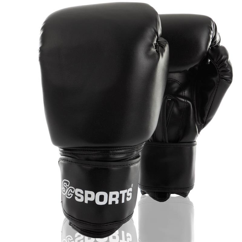 Boxhandschuhe Kunstleder schwarz